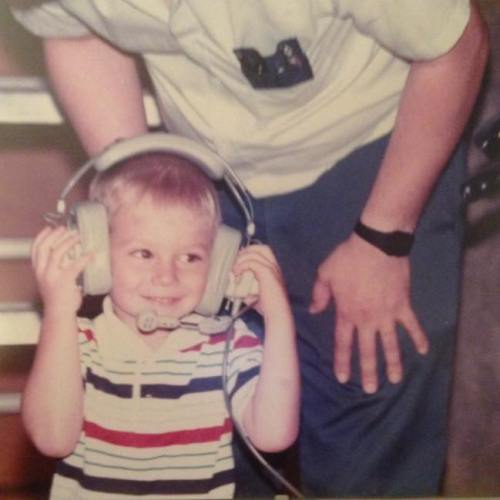 Steve's first time on headset. Circa 1990.