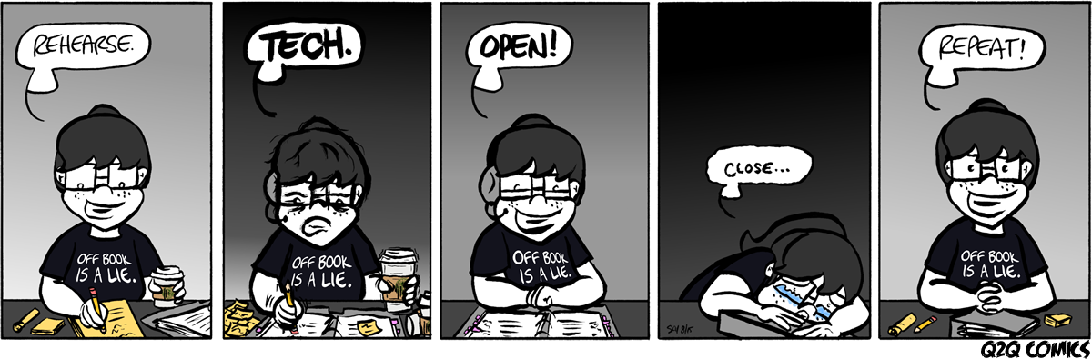 life cycle of theatre show comic strip from Q2Q Comics