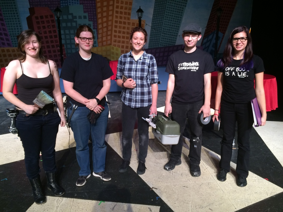First Prize: The Crew from UWSP as the Q2Q Crew from the Anatomy Comics. L to R: Dierdre as Cass, Ellen as Wuggles, Simone as Sam, Danny as Steve, and Alesha as Morty.
